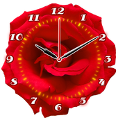 Rose Flower Clock icon