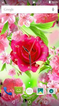 Rose Flower Clock screenshot 2