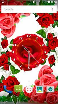Rose Flower Clock screenshot 6