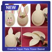 Creative paper plate flower basket for android apk download creative paper plate flower basket icon mightylinksfo