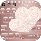 Rose Gold Diamond Love Theme for Keyboard icon