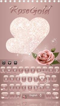 Rose Gold Diamond Love Theme for Keyboard poster
