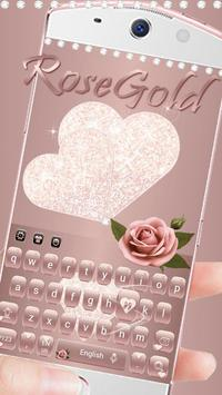 Rose Gold Diamond Love Theme for Keyboard screenshot 2