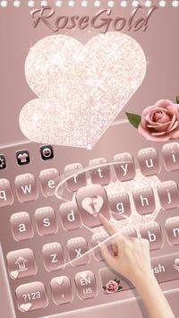 Rose Gold Diamond Love Theme for Keyboard apk screenshot