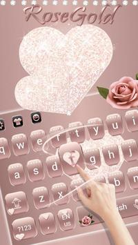 Rose Gold Diamond Love Theme for Keyboard screenshot 4