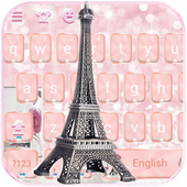 Rose Gold Paris tower Theme for Keyboard icon