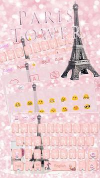 Rose Gold Paris tower Theme for Keyboard screenshot 2