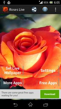 Beautiful Roses Live Wallpaper screenshot 1