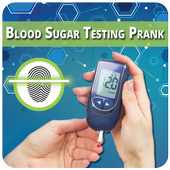 Blood sugar scan test prank icon