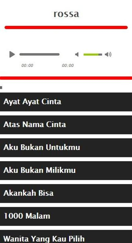 Download mp3 indonesia: lirik lagu rossa ku menunggu.