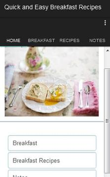 Quick Easy Breakfast Recipes poster
