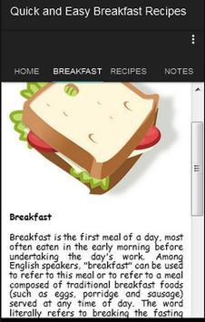 Quick Easy Breakfast Recipes apk screenshot
