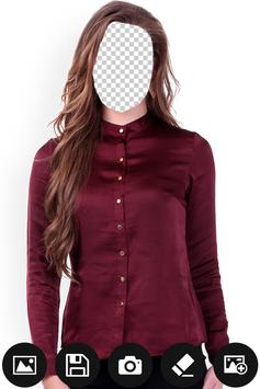 Women Formal Shirt Photo Editor screenshot 1