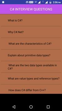 C# Interview Questions screenshot 1