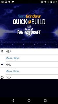 QuickBuild for FantasyDraft screenshot 1