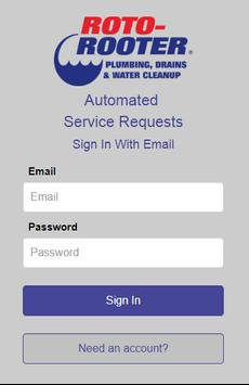 Roto-Rooter's Service Request App screenshot 1