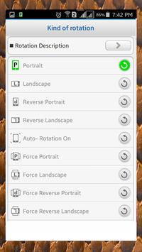 Screen Rotation Control screenshot 1