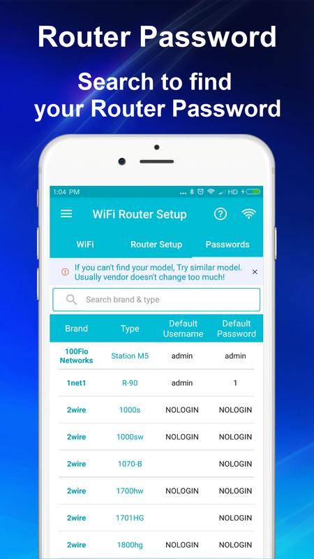 Wifi router apk