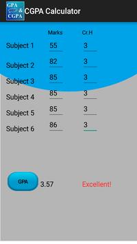 CGPA Calculator apk screenshot
