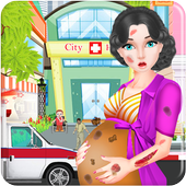 Pregnant Girl Emergency Doctor icon
