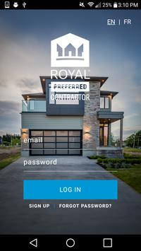 Royal® Preferred Contractor poster