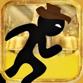 Brave Stickman Gold Chase icon