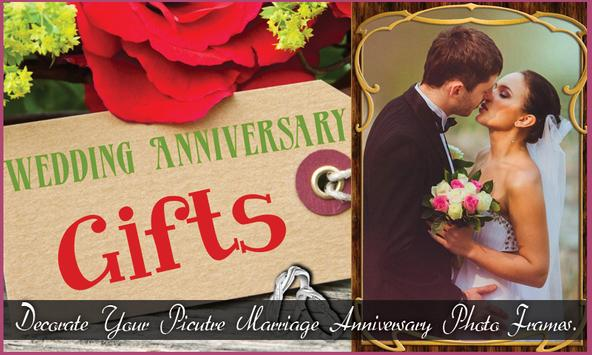 Marriage Anniversary Pic Frame poster