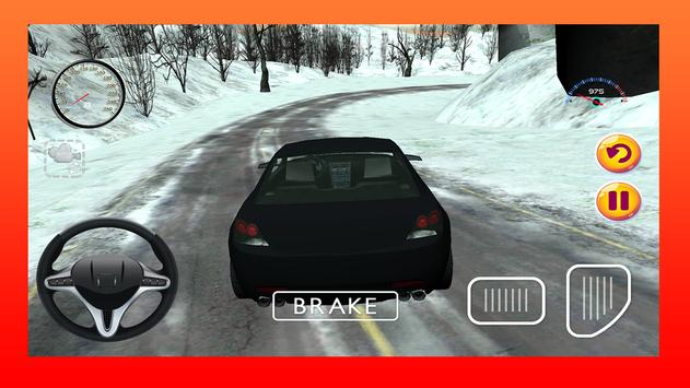 Snow Car Driving Game 3D poster