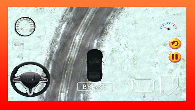Snow Car Driving Game 3D screenshot 2