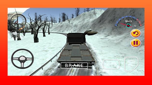 Snow Truck Driving Game 3D apk screenshot