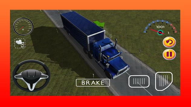Truck Driving Game 3D poster