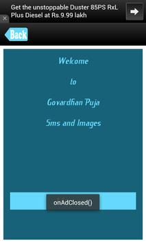 Govardhan Pooja SMS Messages poster