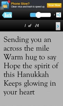 Hanukkah SMS Messages Msgs apk screenshot