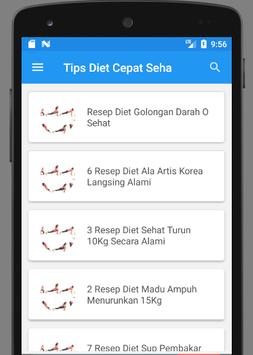 Cara Diet Cepat dan Sehat Dalam Seminggu screenshot 1