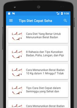 Cara Diet Cepat dan Sehat Dalam Seminggu screenshot 2