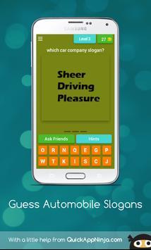 Guess Slogans - AUTOMOBILES apk screenshot