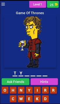 Guess Game Of Simpsonized poster