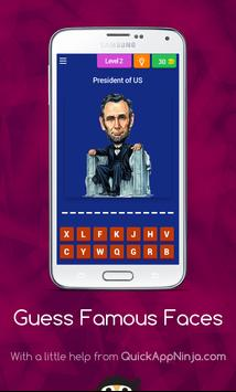 Guess Famous Faces apk screenshot