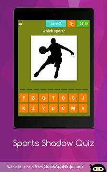 Sports Shadow Quiz apk screenshot