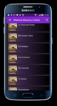Maluma Musica y Letras apk screenshot