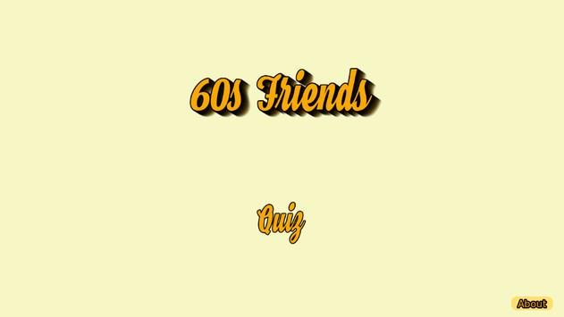 60s Friends poster