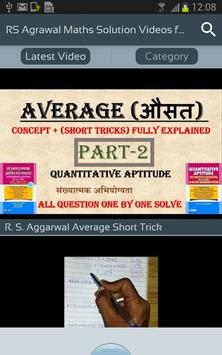Rs agrawal maths solution videos for all class para android apk baixar rs agrawal maths solution videos for all class imagem de tela 1 fandeluxe Choice Image