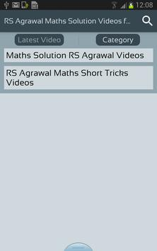 Rs agrawal maths solution videos for all class para android apk baixar rs agrawal maths solution videos for all class imagem de tela 2 fandeluxe