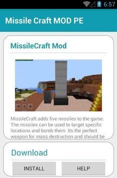 Missile Craft MOD PE apk screenshot