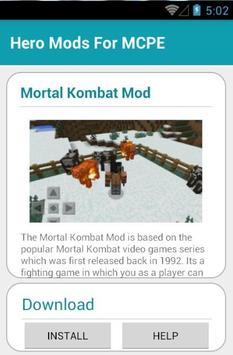 Hero Mods For MCPE screenshot 13