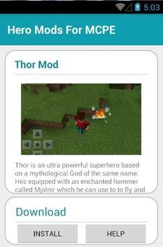 Hero Mods For MCPE screenshot 8