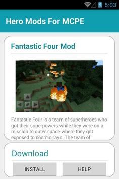 Hero Mods For MCPE screenshot 9