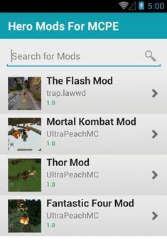 Hero Mods For MCPE screenshot 1
