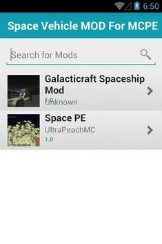 Space Vehicle MOD For MCPE apk screenshot