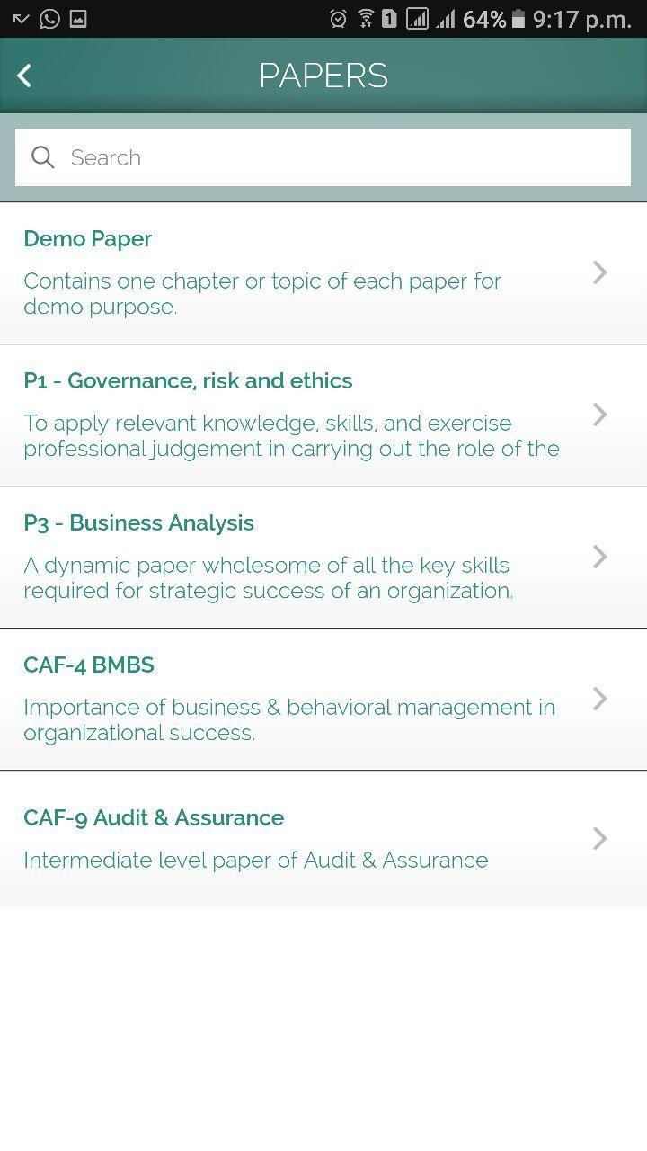 Saad Altaf | Study OTG CA ACCA for Android - APK Download